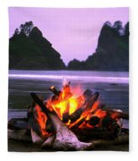 Bonfire On The Beach, Point Of The Fleece Blanket