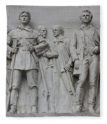 Bonham And Bowie On Alamo Monument Fleece Blanket