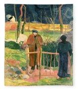 Bonjour Monsieur Gauguin Fleece Blanket