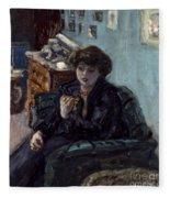 Bonnard: Lady, 19th C Fleece Blanket