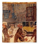 Bonnard: Place Clichy Fleece Blanket