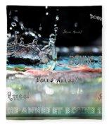 Bonne Annee Card Fleece Blanket