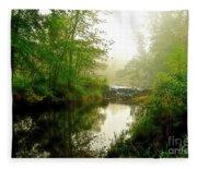 Bonneyville Mill Waterfall Fleece Blanket