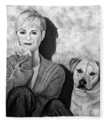 Bonnie Hunt And Charlie Fleece Blanket