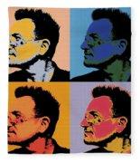 Bono Pop Panels Fleece Blanket