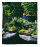 Bonsai Afloat Fleece Blanket