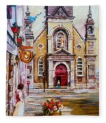 Bonsecours Church Fleece Blanket