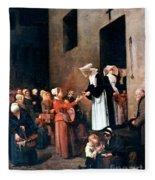 Bonvin: Charity, 1851 Fleece Blanket