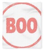 Boo Rubber Stamp Fleece Blanket