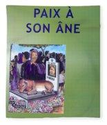 Book Cover Paix A Son Ane Fleece Blanket