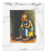 Book Cover The Widows Might Fleece Blanket