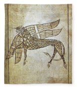 Book Of Durrow, C680 A.d Fleece Blanket