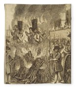 Book Of Martyrs, 1563 Fleece Blanket
