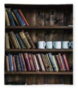 Book Shelf Fleece Blanket