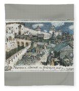 Book Shop On The Bridge Spassky In The Xvii Century 1922 Apollinaris M Vasnetsov Fleece Blanket