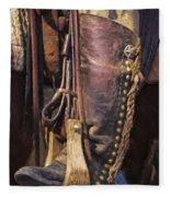 Boots Of A Drover 2015 Fleece Blanket
