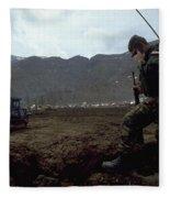 Boots On The Ground Fleece Blanket
