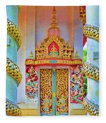Bophut Temple In Thailand Fleece Blanket