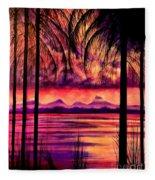 Bora Bora  Fleece Blanket
