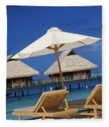 Bora Bora, Beach Fleece Blanket