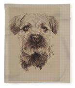 Border Terrier Fleece Blanket