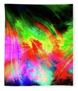 Borealis Explosion Rupture Fleece Blanket