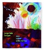 Borges Tlon Poster 2 Fleece Blanket
