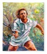Boris Becker Fleece Blanket