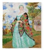 Boris Kustodiev Fleece Blanket