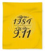 Born Into 1984 - Woke 9.11 Fleece Blanket