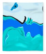 Born Of The Ocean Fleece Blanket