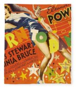 Born To Dance 1936 Retro Movie Poster Fleece Blanket