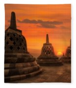 Borobudur Fleece Blanket