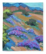 Borrego Springs Verbena Fleece Blanket