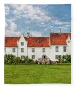 Bosjokloster Monastery Castle Facade Fleece Blanket