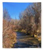 Bosque De Rio De Taos Fleece Blanket