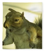 Bossy Squirrel Fleece Blanket