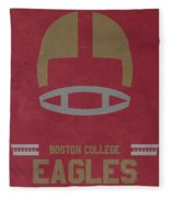 Boston College Eagles Vintage Football Art Fleece Blanket