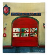 Boston Fire Engine 21 Fleece Blanket