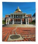 Boston Freedom Trail To State House Boston Ma Fleece Blanket