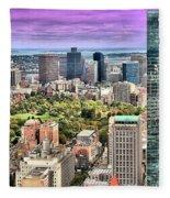 Boston From Above Fleece Blanket