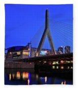 Boston Garden And Zakim Bridge Fleece Blanket