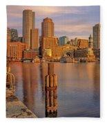 Boston Habor Sunrise Fleece Blanket