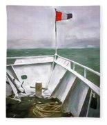 Boston Harbor Cruise  Fleece Blanket