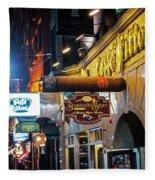 Boston Ma North End Cigar Shop Fleece Blanket