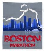 Boston Marathon 3a Running Runner Fleece Blanket