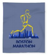 Boston Marathon5 Fleece Blanket