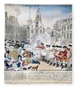 Boston Massacre, 1770 Fleece Blanket