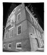 Boston Old State House Boston Ma Angle Black And White Fleece Blanket
