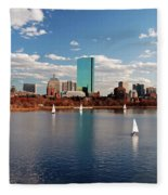 Boston On The Charles  Fleece Blanket